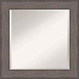 Amanti Art Country 25-Inch Square Framed Wall Mirror in Grey