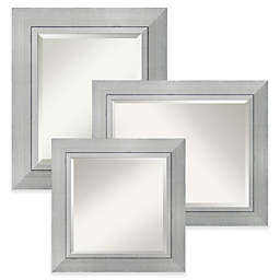 Amanti Art Romano Wall Mirror in Silver