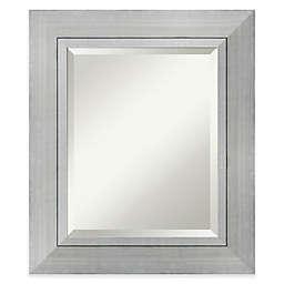 Amanti Romano 23-Inch x 27-Inch Wall Mirror in Silver