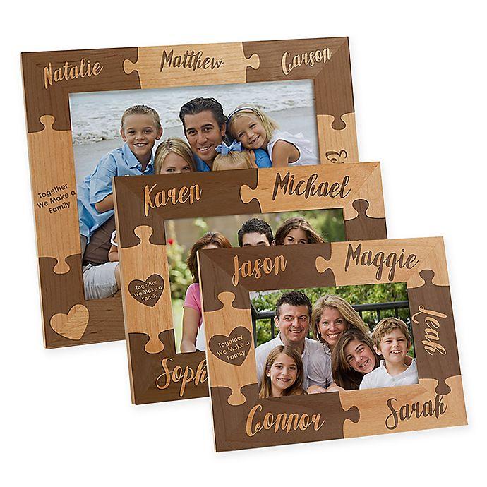 Alternate image 1 for Together we Make a Family Engraved Picture Frame