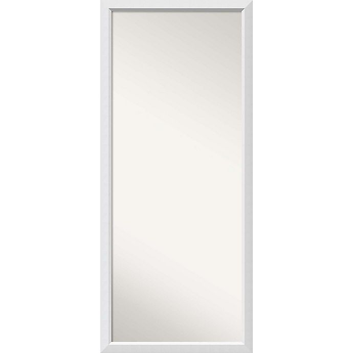 Alternate image 1 for Amanti Art Blanco 28-Inch x 64-Inch Framed Full Length Floor/Leaner Mirror in White