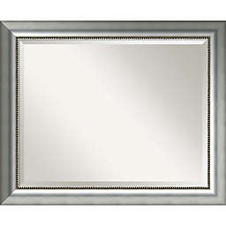 Vegas 33-Inch x 27-Inch Bathroom Mirror in Burnished Silver