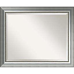 Vegas 33-Inch x 27-Inch Bathroom Mirror in Burnished Silver