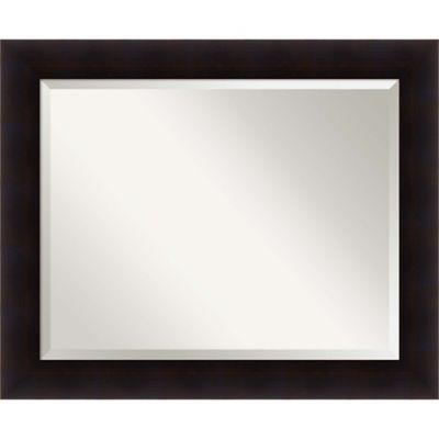 34 Inch X 28 Portico Bathroom Mirror In Espresso Bed Bath And Rh Bedbathandbeyond Ca Dark Framed