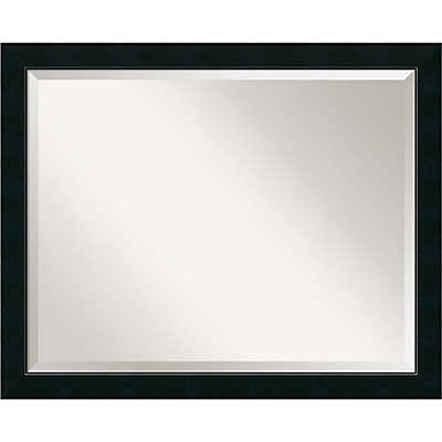 Amanti Art Nero 31-Inch x 25-Inch Vanity Mirror in Black