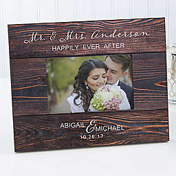 Rustic Elegance Wedding 4-Inch x 6-Inch Picture Frame