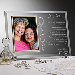 Dear Mom Poem Glass Picture Frame
