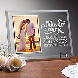 The Happy Couple Reflections Glass Picture Frame