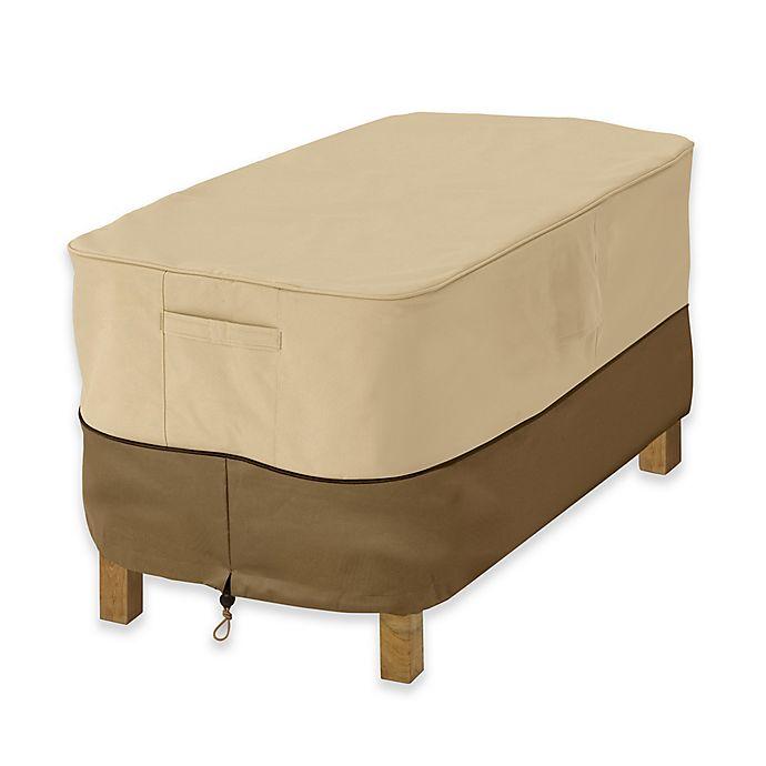 Alternate image 1 for Classic Accessories® Veranda Small Ottoman or Side Table Cover in Pebble