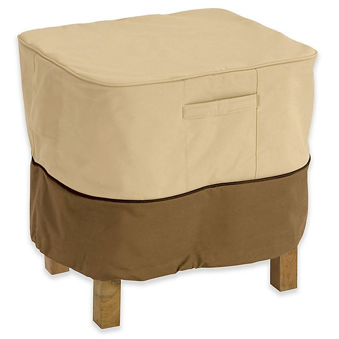Alternate image 1 for Classic Accessories® Veranda X-Large Ottoman or Side Table Cover in Pebble