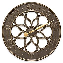 Whitehall Products Medallion Outdoor Thermometer in French Bronze