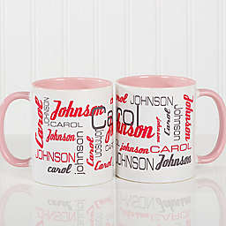 Signature Style for Him 11 oz. Coffee Mug in Pink