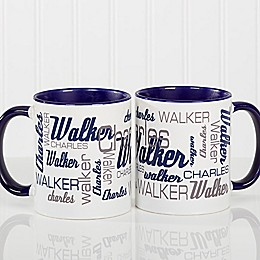 Signature Style for Him 11 oz. Coffee Mug in Blue