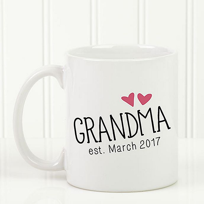 Alternate image 1 for Grandparent Established 11 oz. Coffee Mug in White