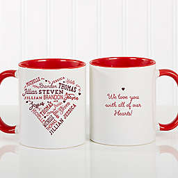 Close to Her Heart 11 oz. Coffee Mug in Red