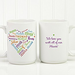 Close to Her Heart 15 oz. Coffee Mug in White