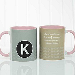 Sophisticated Quotes 11 oz. Coffee Mug in Pink