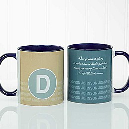 Sophisticated Quotes 11 oz. Coffee Mug in Blue
