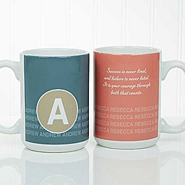 Sophisticated Quotes 15 oz. Coffee Mug in White
