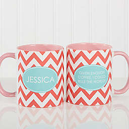 Preppy Chic 11 oz. Coffee Mug in Pink