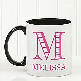 Striped Monogram Coffee Mug