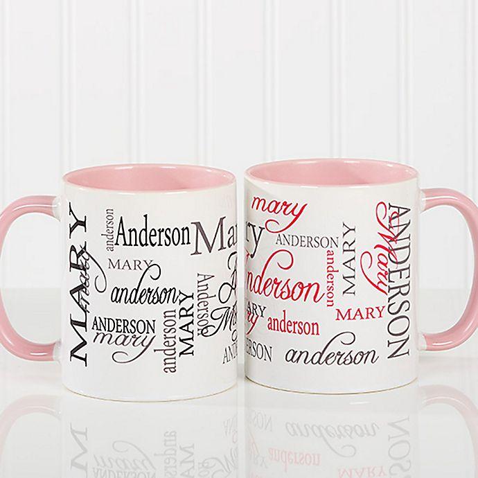 Valentine/'s Day Gift Heart Shaped Bubbles Personalised Jumbo Giant 20oz Mug