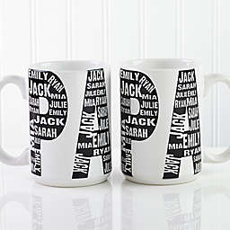Repeating Name for Him 15 oz. Coffee Mug in White