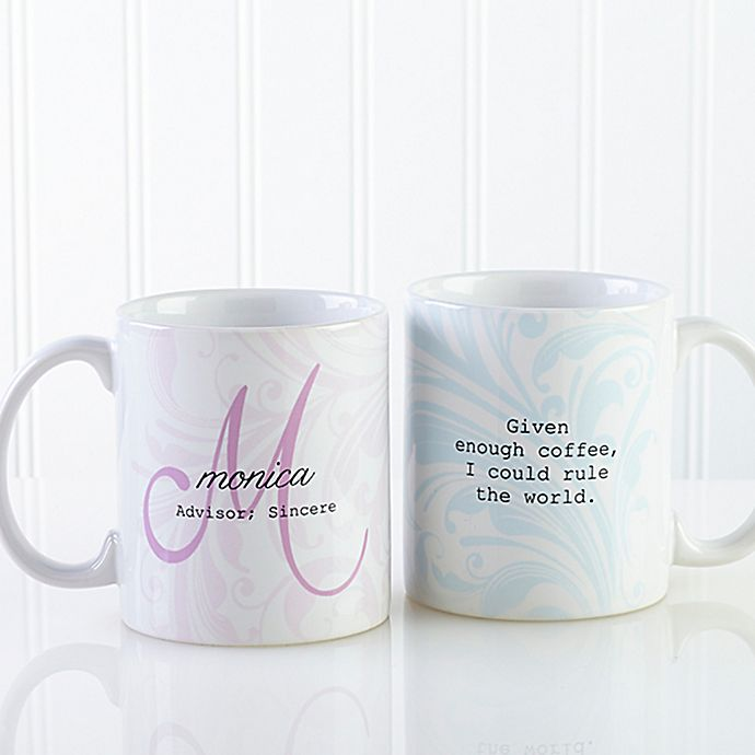 Alternate image 1 for Name Meaning 11 oz. Coffee Mug in White