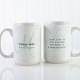 Name Meaning 15 oz. Coffee Mug in White