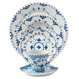 Royal Copenhagen Fluted Full Lace Dinnerware Collection in Blue