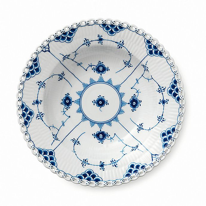 Alternate image 1 for Royal Copenhagen Fluted Full Lace Rim Soup Bowl in Blue