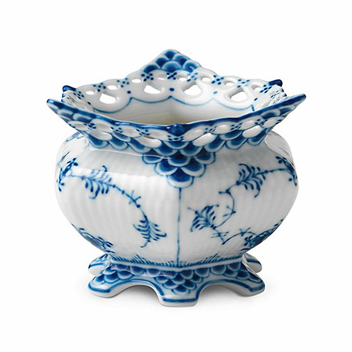 Alternate image 1 for Royal Copenhagen Fluted Full Lace Sugar Bowl in Blue