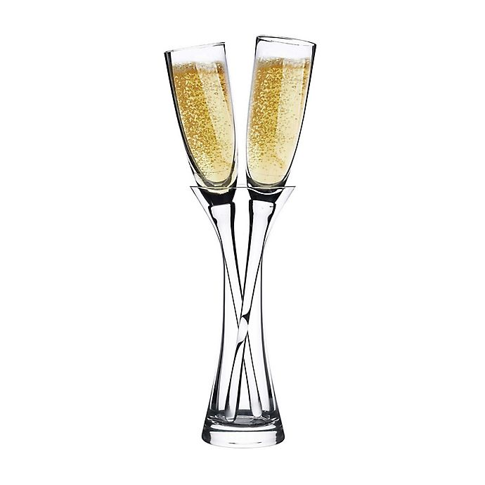 Alternate image 1 for Lillian Rose™ 3-Piece Long Stemmed Toasting Glasses with Vase Set