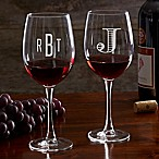 Classic Celebrations 19.25 oz. Red Wine Glass with Monogram