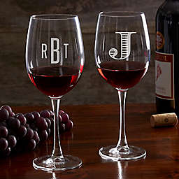 Classic Celebrations 19.25 oz. Red Wine Glass with Monogram