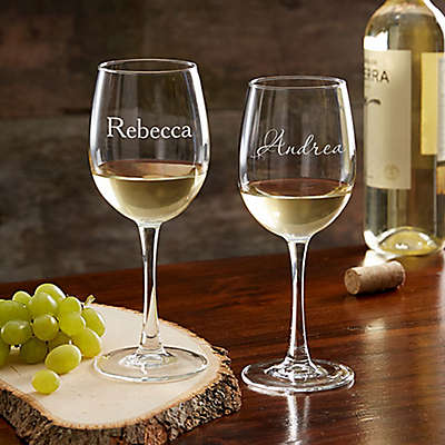 Classic Celebrations 12 oz. White Wine Glass with Name