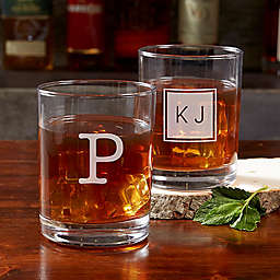 Classic Celebrations Old Fashioned Glass with Monogram