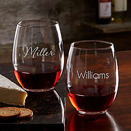 Classic Celebrations 21 oz. Stemless Wine Glass with Name
