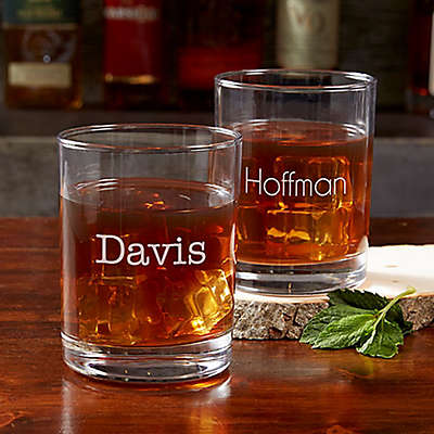 Classic Celebrations Old Fashioned Glass with Name