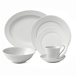 Royal Copenhagen Fluted Half Lace Dinnerware Collection in White