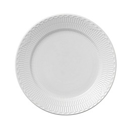 Royal Copenhagen Fluted Half Lace Dinner Plate in White
