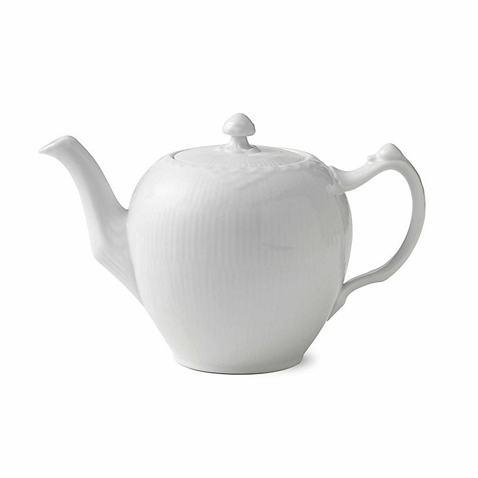 Alternate image 1 for Royal Copenhagen Fluted Half Lace Teapot in White