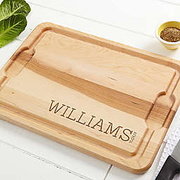 Family Name Established Cutting Board in Maple