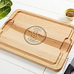 Circle of Love 15-Inch x 21-Inch Cutting Board in Maple