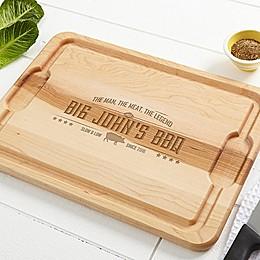 Man, Meat, Legend Cutting Board in Maple