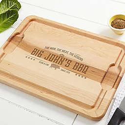 Man, Meat, Legend 15-Inch x 21-Inch Cutting Board in Maple