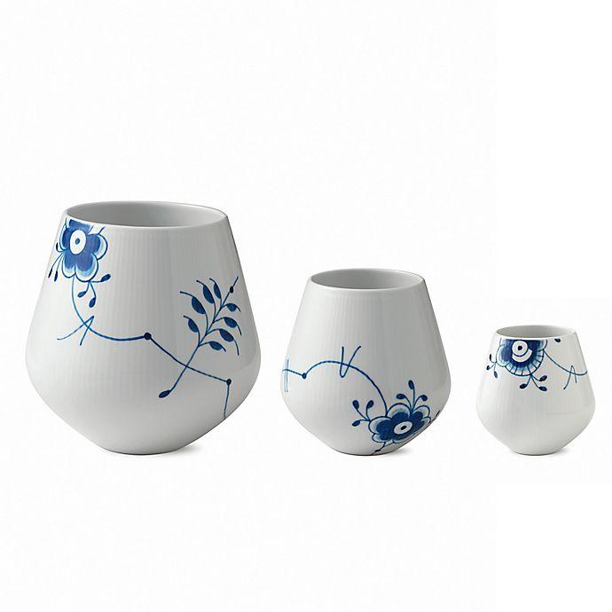 Alternate image 1 for Royal Copenhagen Fluted Mega Vase in Blue