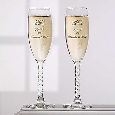 Mr. and Mrs. Collection Champagne Flutes (Set of 2)