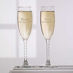 Loving Couple Champagne Flutes (Set of 2)