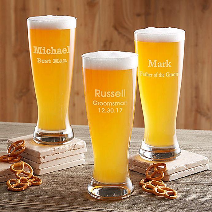 Alternate image 1 for Groomsmen 20 oz. Beer Pilsner Glass
